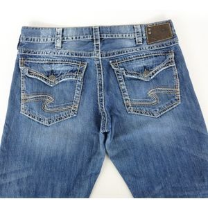 Silver Jeans ZAC FLAP 38x34 Relax Fit Straight Leg